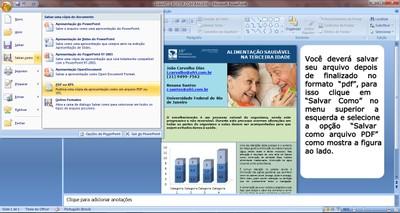 Instruções gerar PDF