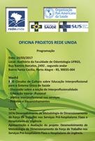 Programação da Oficina de Projetos da Rede Unida